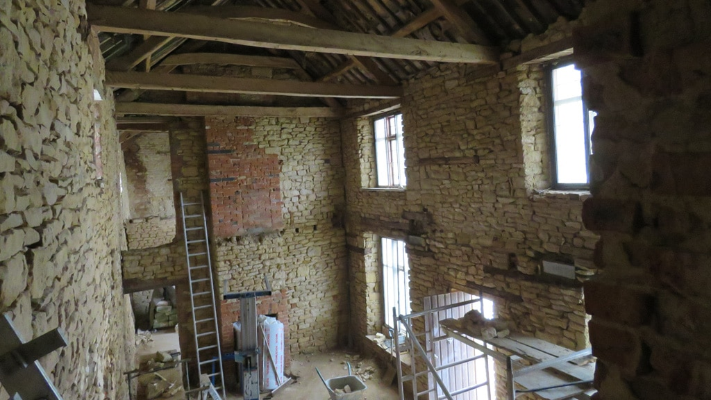 First-floor-and-support-beams-stripped-out