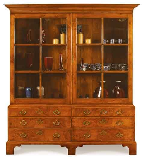 display cabinet oak & burr oak