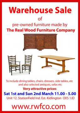 Warehouse Sale of pre-owned hand made quality country furniture, dining tables, chairs, dressers etc
