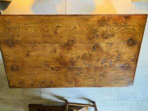 new - 101. Coffee table 48_ x 27_ x 20_, top, 2 x push through drawers, oak and burr oak, Norfolk medium finish, £1,595