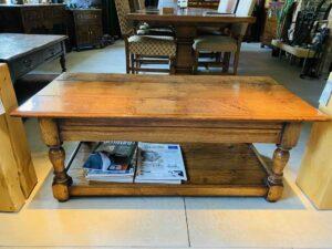 new - 102. Coffee table 48_ x 24_ x 19_, oak and burr oak, Norfolk medium finish, £1,295