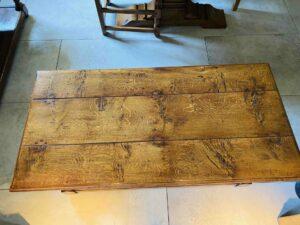 new - 102. Coffee table 48_ x 24_ x 19_, top, oak and burr oak, Norfolk medium finish, £1,295
