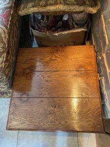 new - 201. Lamp table, 24_ x 24_ x 20_ (610 x 610 x 510mm), top, oak and burr oak, Norfolk medium finish, £1,295