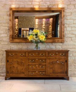 new - 301. Conway valley dresser base, 72_ x 17_ x 34_ (1830 x 430 x 860mm) -generic photo- oak and burr oak, Norfolk medium finish £4,995